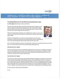 Teaching Witnesses to Avoid Cross-Examin