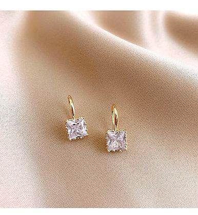 LL  White Stone Earrings