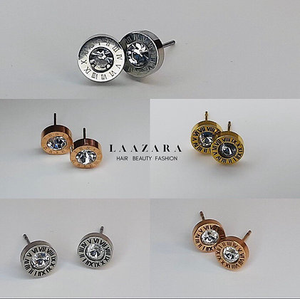 Roman Numeral Studs - Buy Any 2 Or More For FREE Gift Box