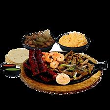 Parrillada, shrimp, sauage, carne asada