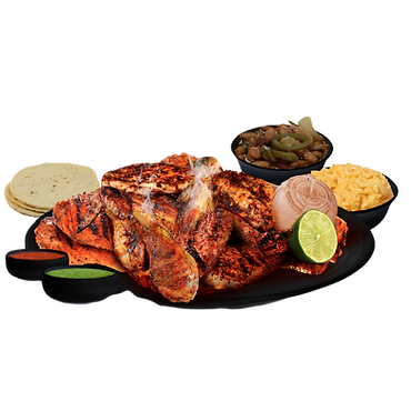 Whole Mexican Charcoal Grilled Chicken Meal