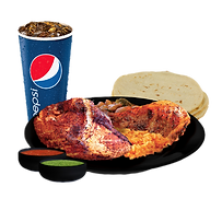2 piece Mexican Charcoal Grilled Chicken Meal
