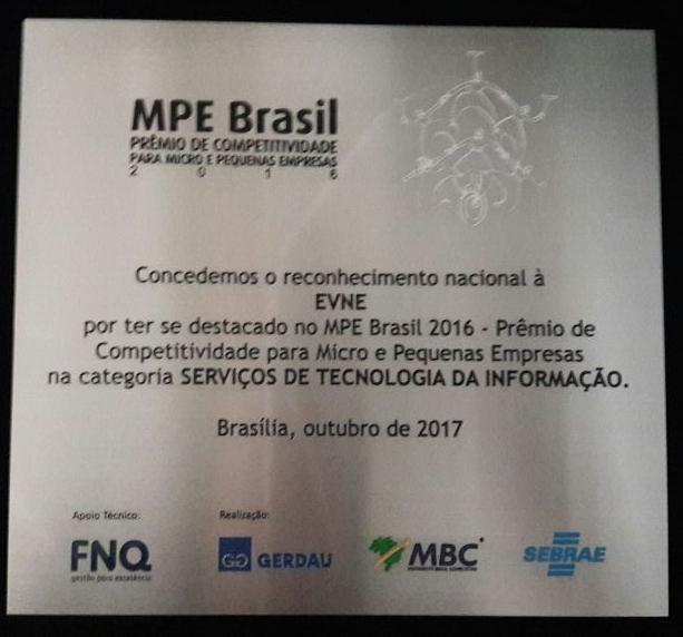 Placa MPE Brasil 2016