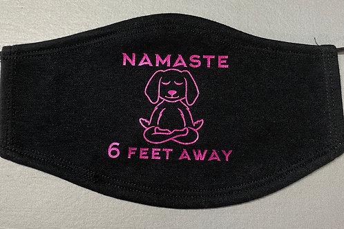 Namaste 6 Feet Away Face Mask