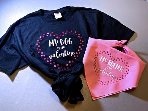 Valentine's Bundle - Shirt & Dog Bandana