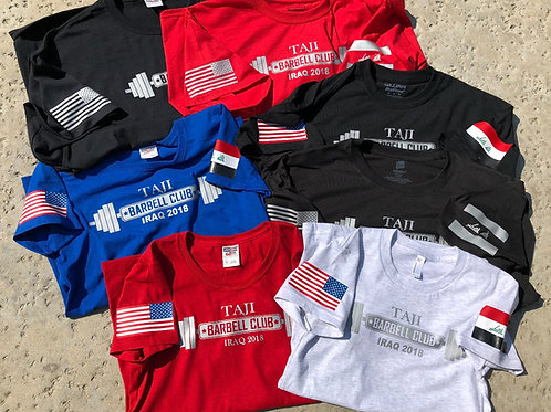 T-Shirt (FULL COLOR FLAG) - TAJI BARBELL CLUB 2018