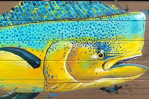 Mahi on Wood