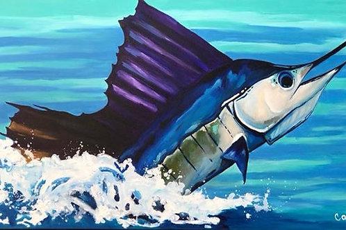 Horizontal Sailfish