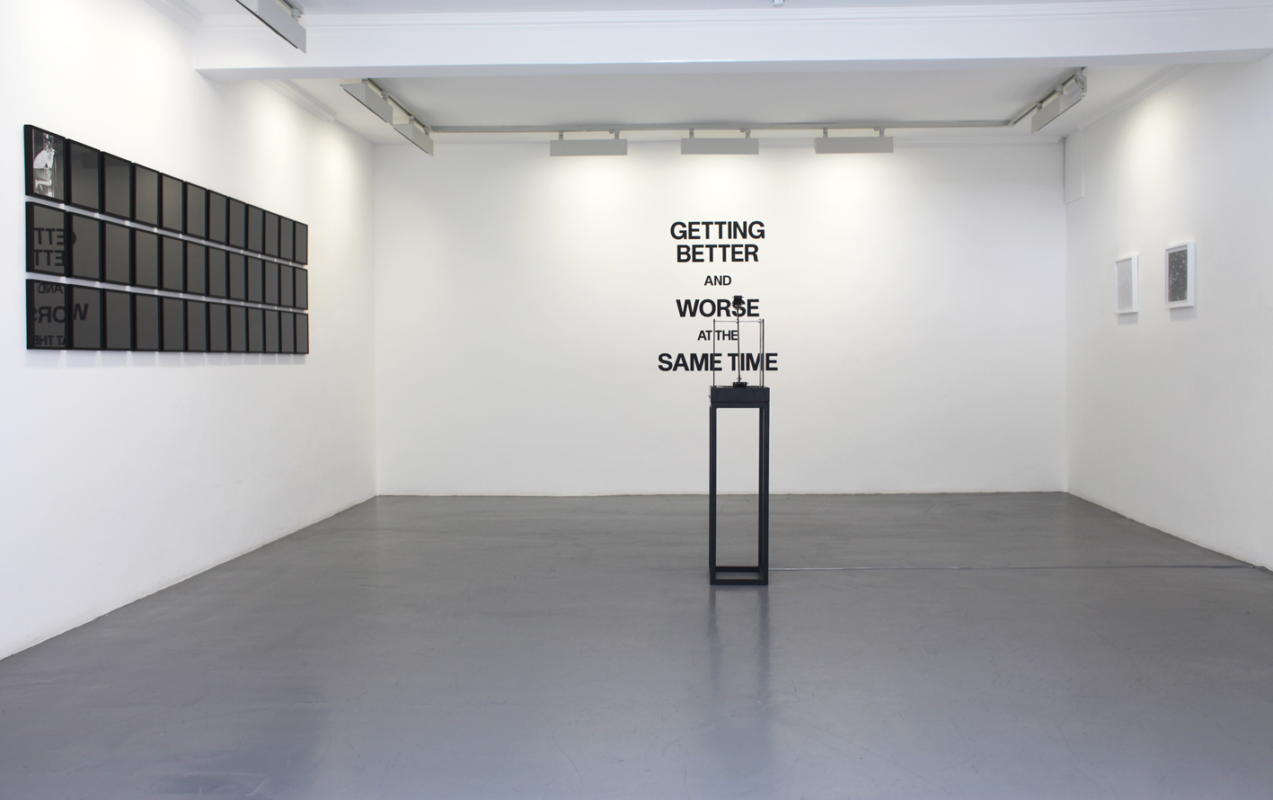 Exhibition view of Getting Better and Worse at The Same Time (room 1), 2015