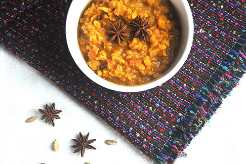 Yellow Split Pea Dal with Cauliflower