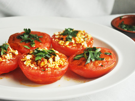 Spanish style oven-roasted tomatoes