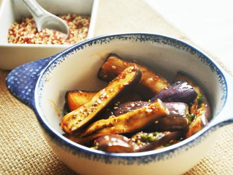 Korean BBQ steamed eggplants