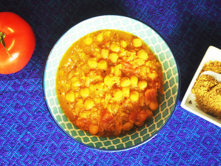 Quick and easy chana (chickpea) dal