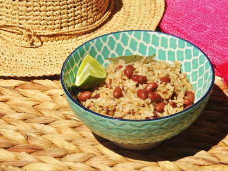Caribbean coconut rice and beans