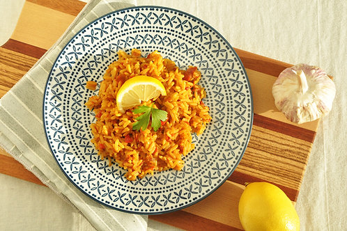 SPANISH RICE WITH SAFFRON AND VEGETABLES