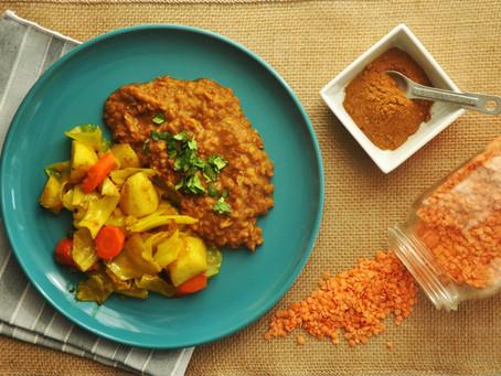 Misir wat (Ethiopian spiced red lentils)