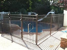 aluminum pool safety fence