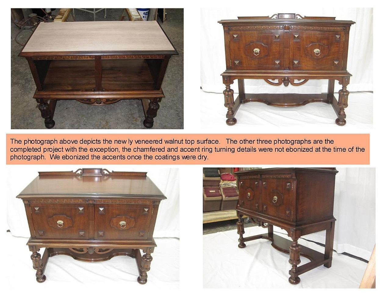 antique server repair restoration; antique server repair restoration ... - Rosini Furniture Service - Long Island, NY Fine Furniture Restoration