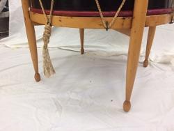 Antique wood drum repair restoration
