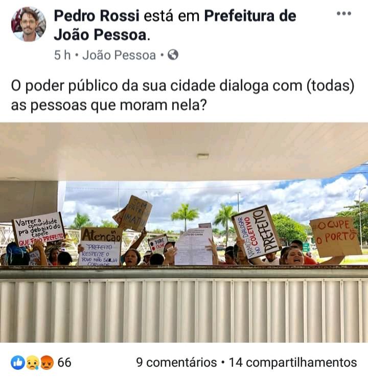 Mulheres do Porto do Capim barradas de entrar na Prefeitura Municipal.