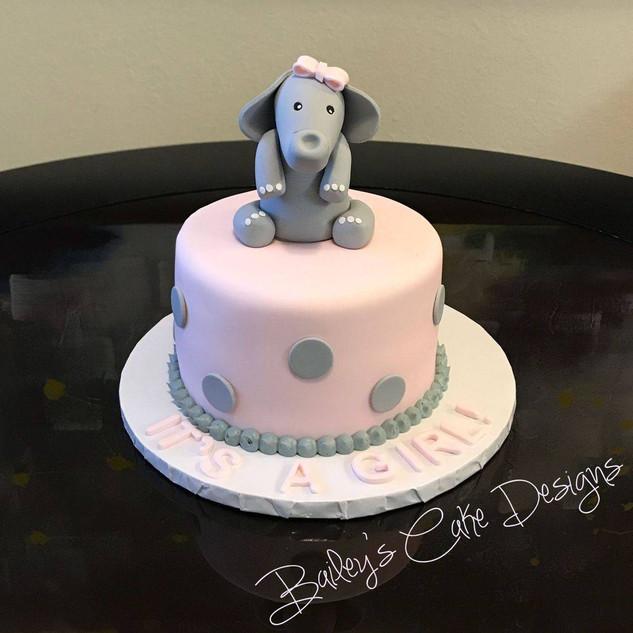 It's A Girl-Elephant Cake