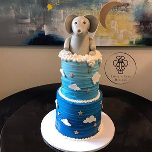 Stars and Moons Babyshower Cake