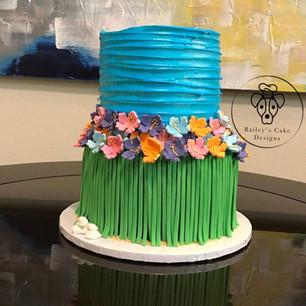 Hawaiian Hula Cake