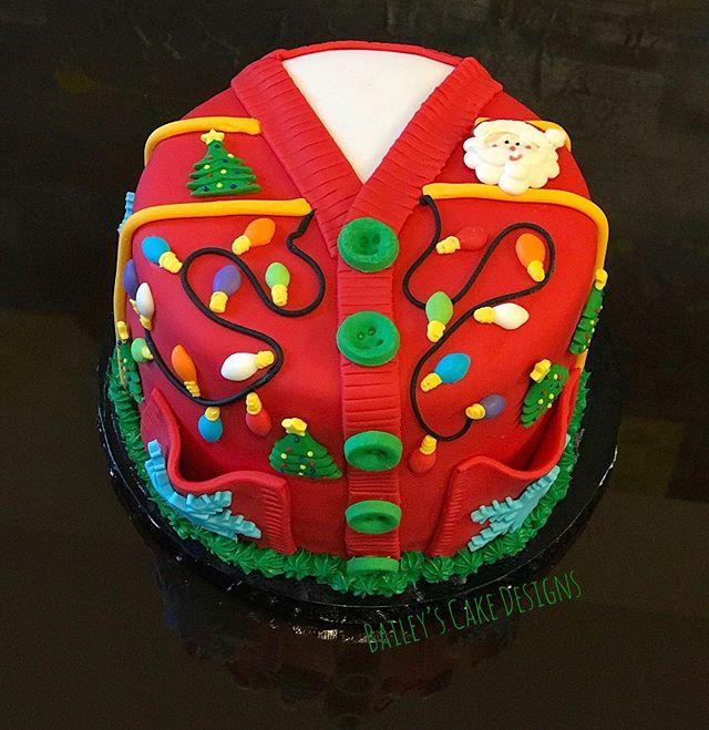 Ugly Sweater Cake