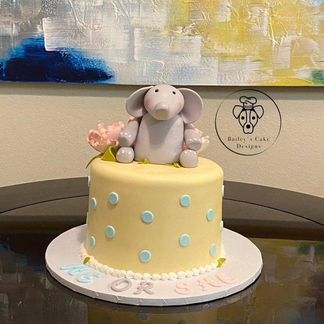 Bapy Elephant Polka Dots-Gender Reveal