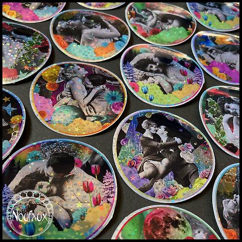 Vintage Kisses Stickers