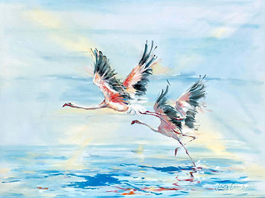Julia Cassels - Wildlife Artist - 'Freedom', Oil on canvas,  80 x 100cm, SOLD