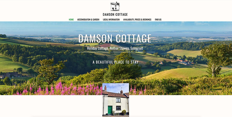 Damson Cottage website created by One2One Website Design Hampshire