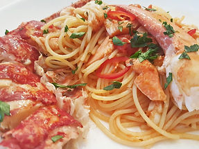 Jane Devonshire's Fresh Lobster Pasta with Tomato Chilli and Tarragon