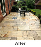 Patio and driveway cleaning in Berkshire, Hampshire, Surrey, Oxfordshire and London Boroughs - Property Worx Ltd