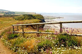A beautiful coastline near Damson Cottage, Nether Stowey, West Somerset