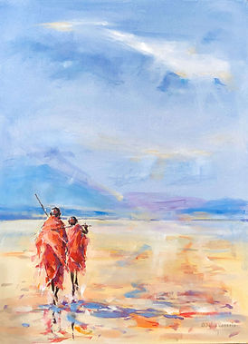 Julia Cassels - Wildlife Artist, 'Distant Hills' - Oil on canvas  60 x 45cm - Framed  £2,500.00