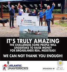 ATLANTIC MAVERICKS Fundraising for Broadlands RDA, Medstead