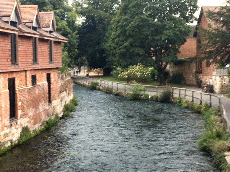 Itchen River crossing Winchester