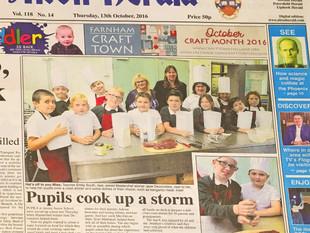 A surprise treat... Pupils cook up a storm in Alton!