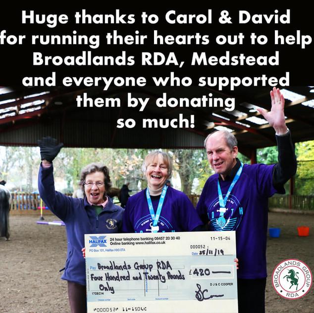 Broadlands RDA, Medstead - Carol and Dav