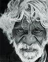 Nyarrie Morgan - Born Wanawara area 1929. Nyarrie is a Martu elder who lives in Parnngurr.