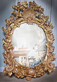 Ornate gilded mirror restoration by Emma Seymour