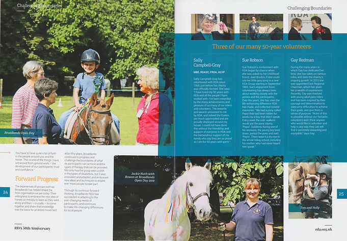 BROADLANDS RDA 50th ANNIVERSARY MAGAZINE