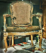 Antique chair restoration by Emma Seymour, Wivelrod, Hampshire
