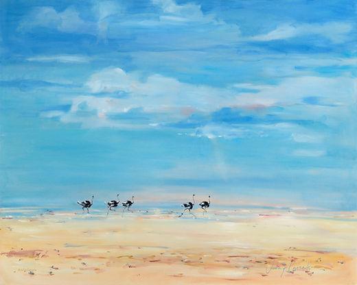 Julia Cassels - Wildlife Artist - 'Big Skies', Oil on Canvas, 80 x 100cm
