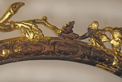 Fine antique gilded woodwork restoration by Emma Seymour, Wivelrod, Hampshire