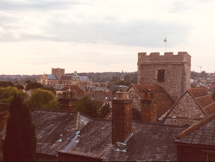 Winchester rooftops view
