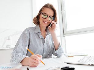 beautiful-smiling-woman-glasses-talking-