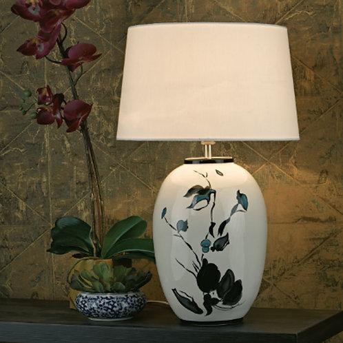 White Floral Ceramic Table Lamp