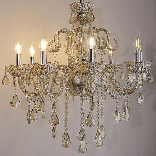 8-Light Candle Crystal Chandelier